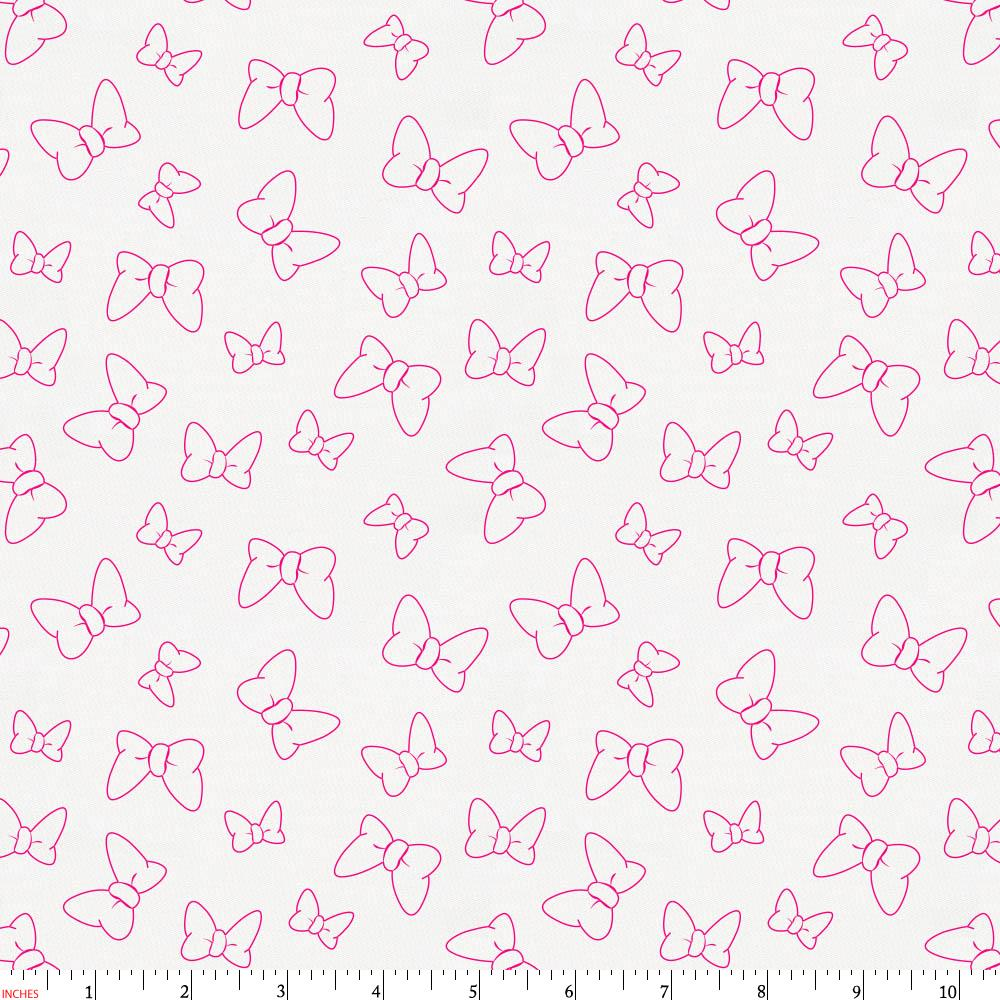 Product image for Disney© Fuchsia Minnie Bows Fabric