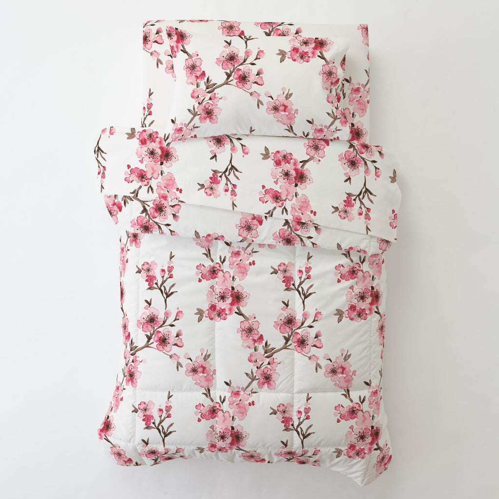 Product image for Pink Cherry Blossom Toddler Comforter