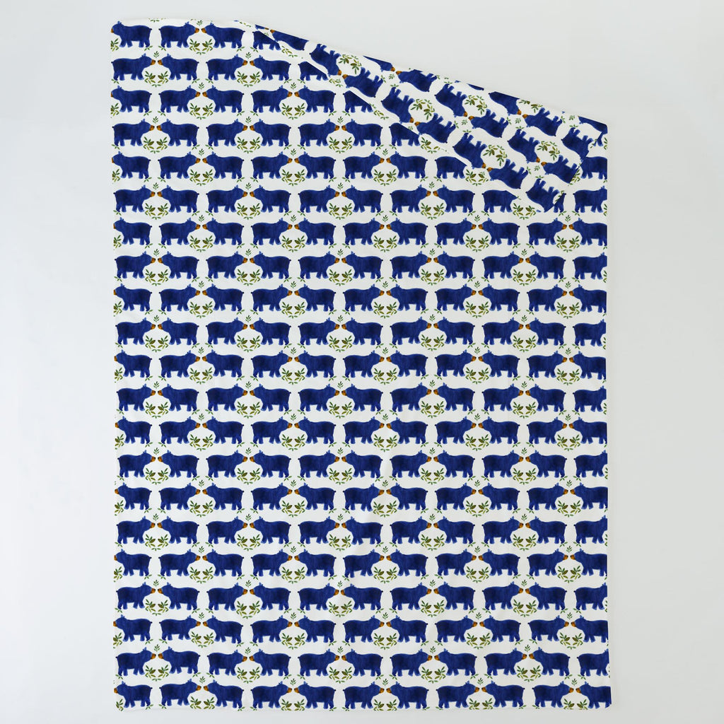 Product image for Blue Woodland Bear Duvet Cover