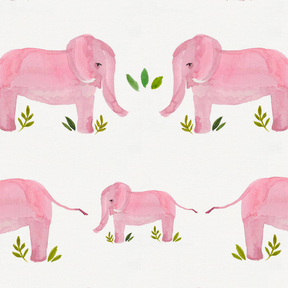 Product image for Pink Painted Elephants Accent Pillow