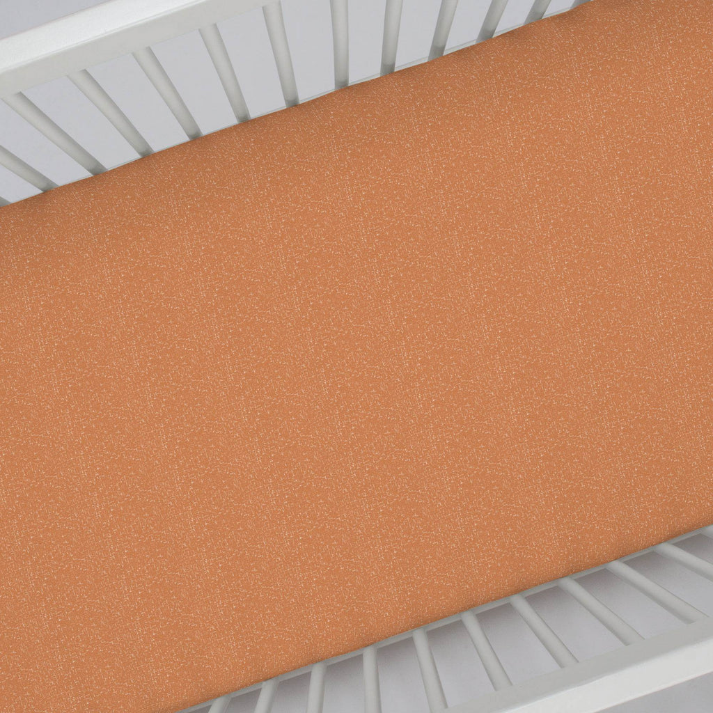 Product image for Fox Orange Heather Crib Sheet