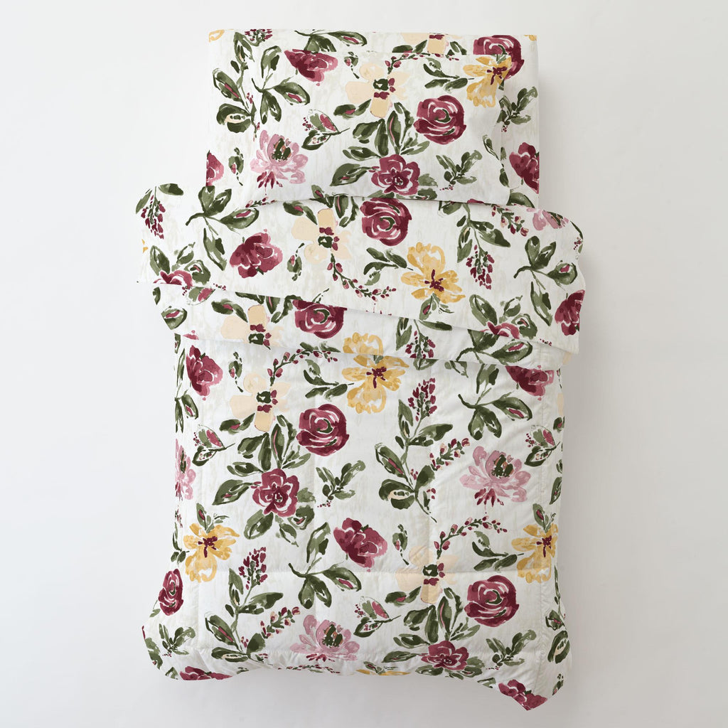 Product image for Merlot Garden Toddler Pillow Case with Pillow Insert