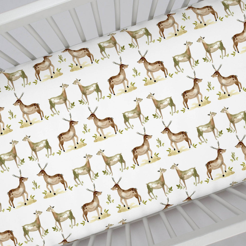 Product image for Painted Deer Crib Sheet