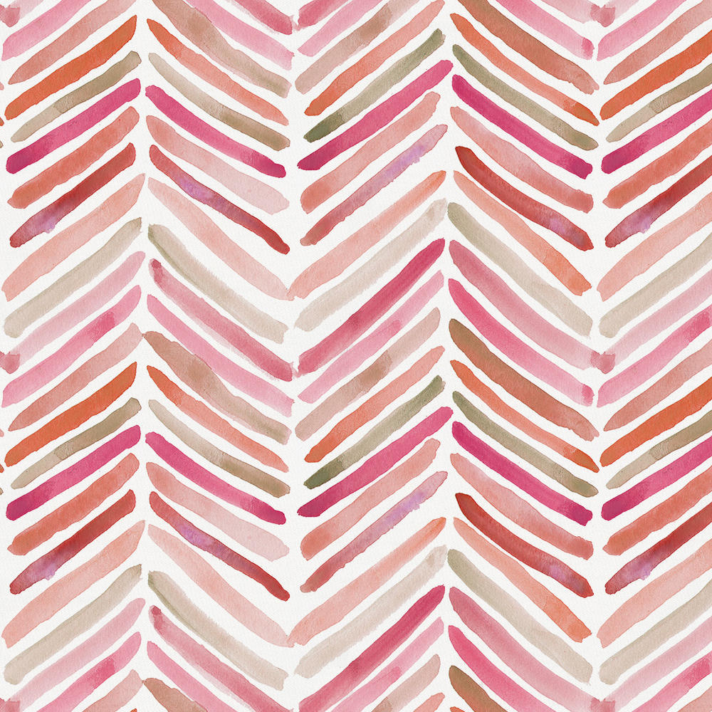 Product image for Pink Painted Chevron Crib Comforter