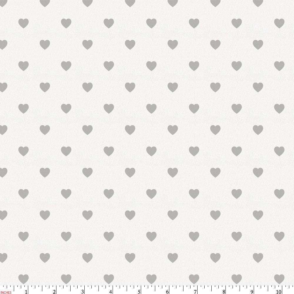 Product image for Gray Hearts Fabric