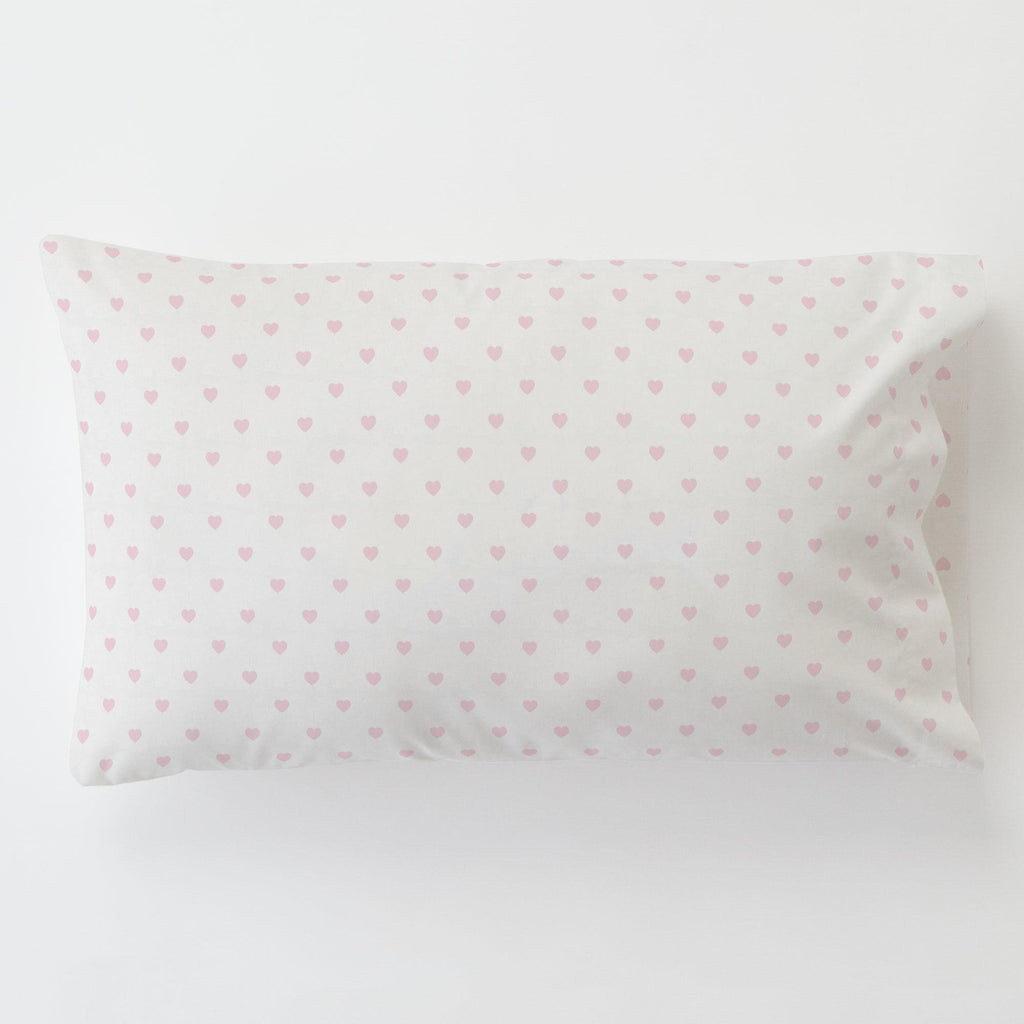 Product image for Pink Hearts Toddler Pillow Case