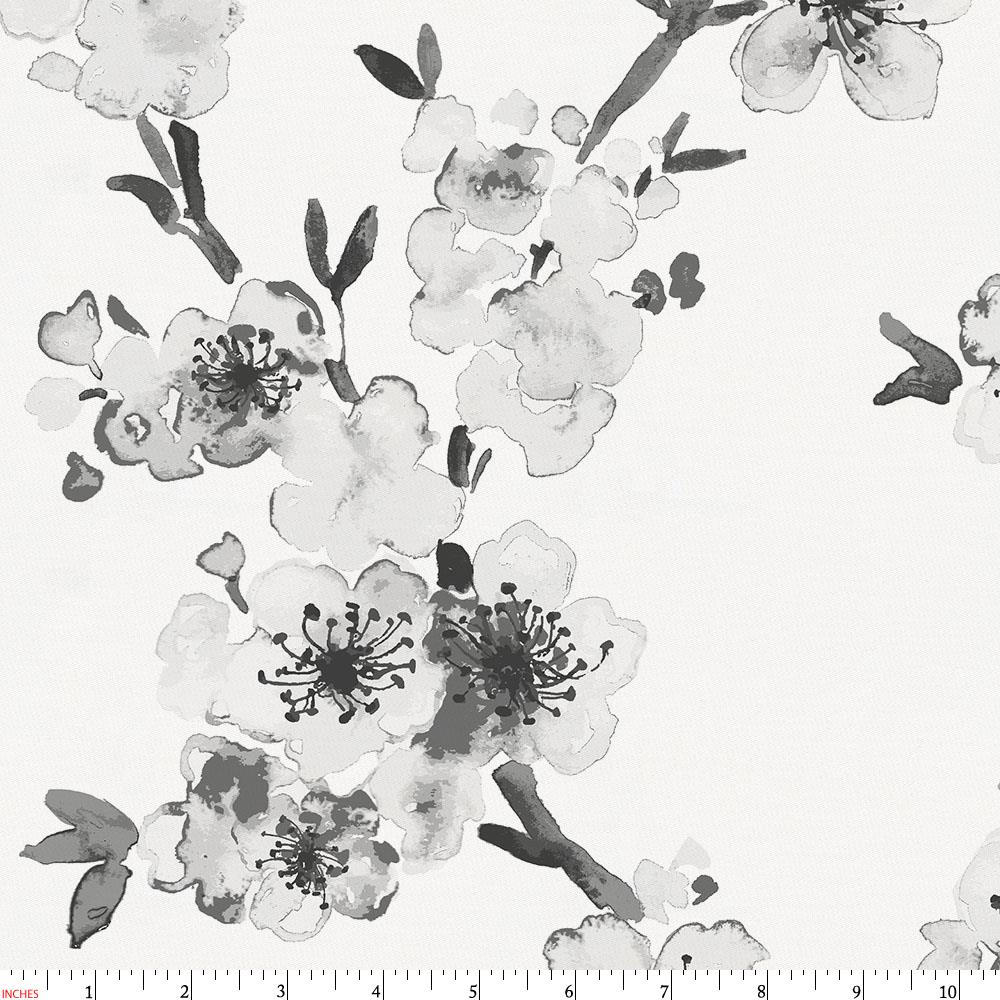 Product image for Gray Cherry Blossom Fabric