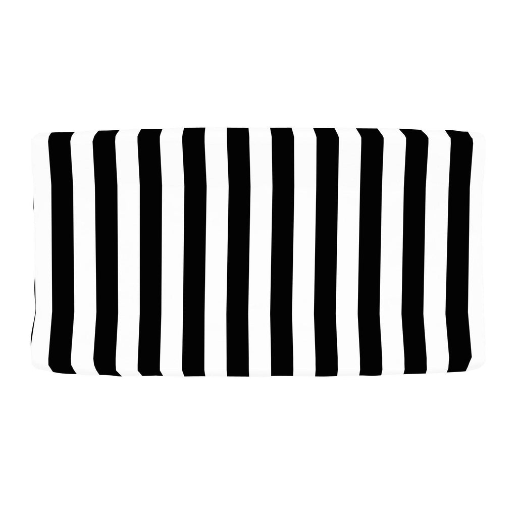 Product image for Onyx and White Stripe Changing Pad Cover