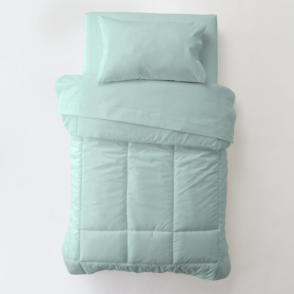 Product image for Solid Seafoam Aqua Toddler Comforter