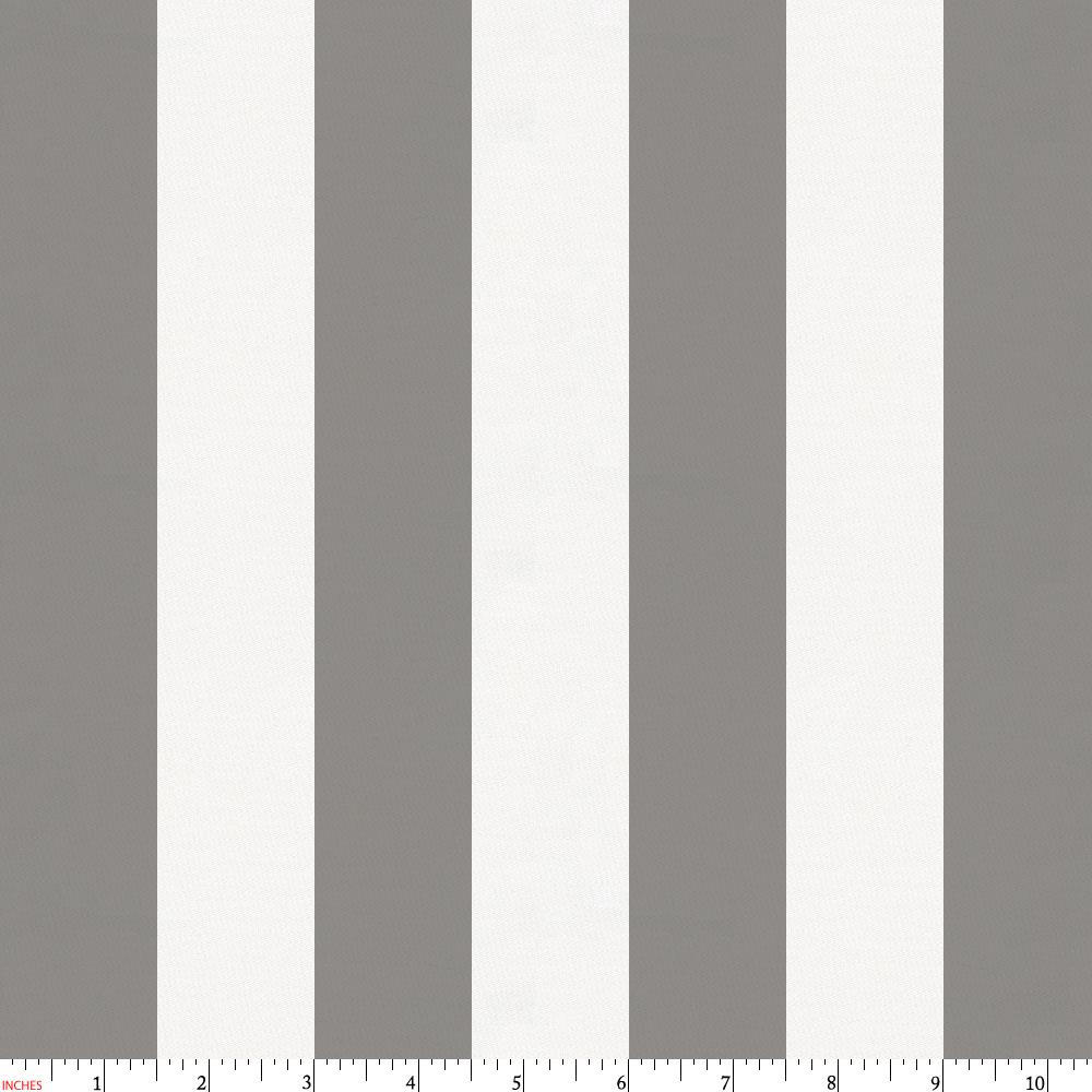 Product image for White and Gray Stripe Fabric