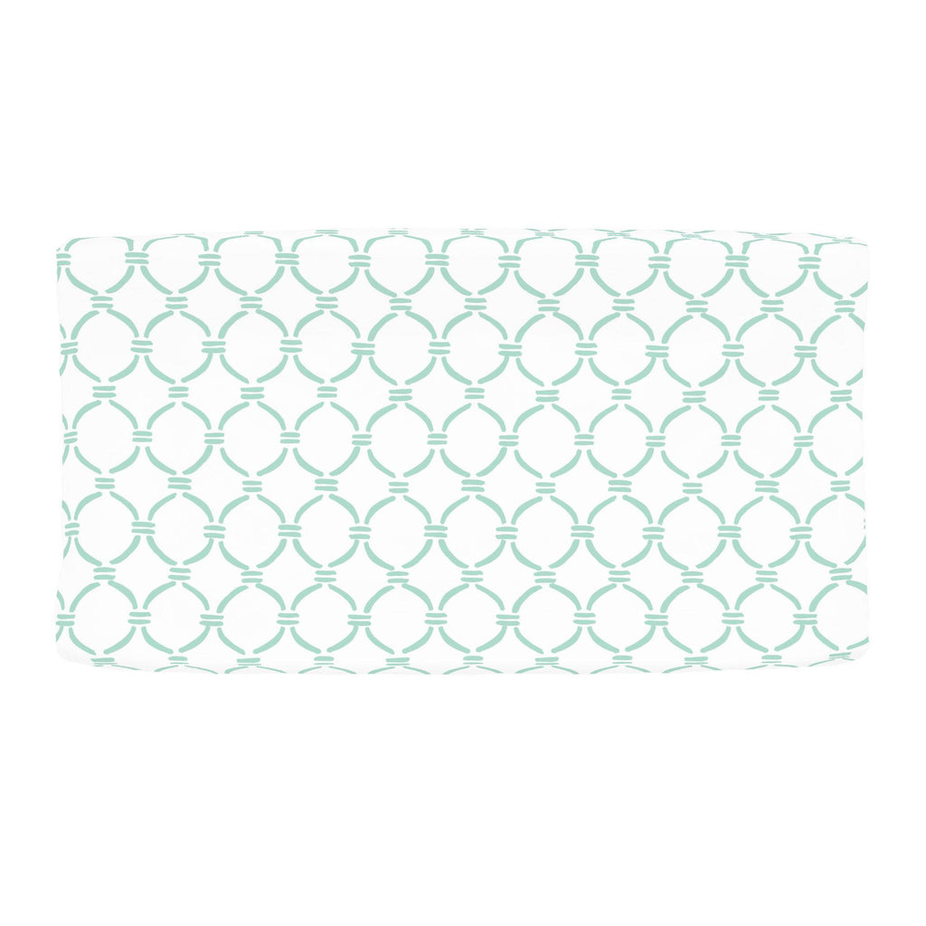 Product image for Mint Lattice Circles Changing Pad Cover