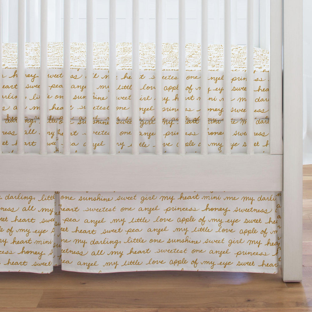 Product image for Mustard Sweet Girl Crib Skirt Single-Pleat
