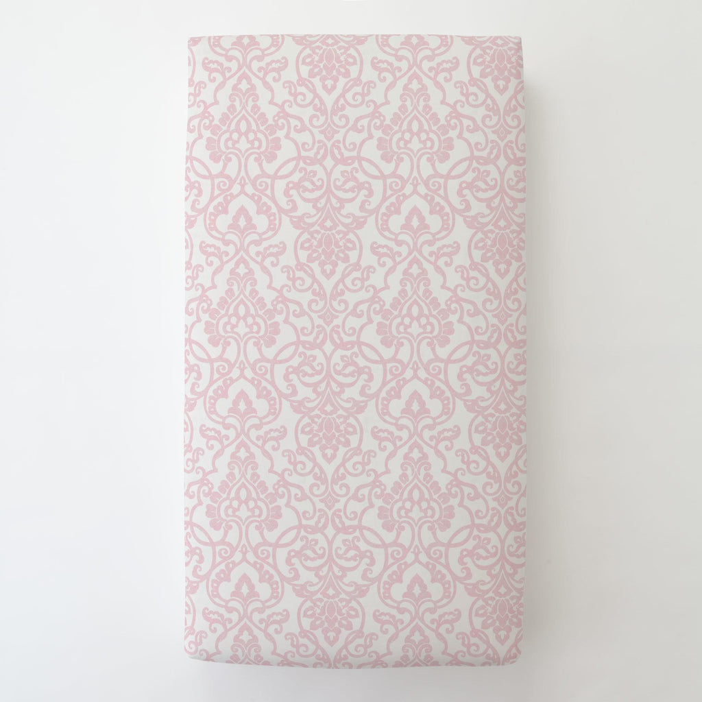 Product image for Pink Filigree Toddler Sheet Bottom Fitted