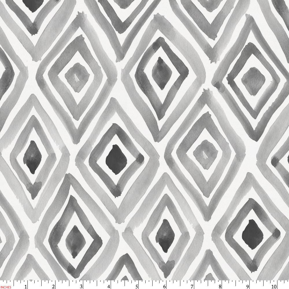 Product image for Gray Painted Diamond Fabric