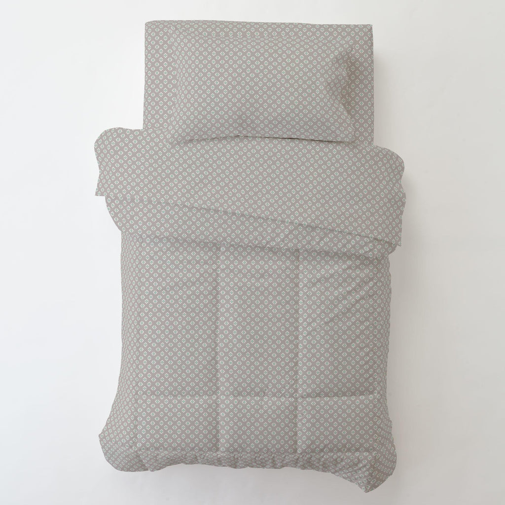 Product image for Taupe and Mint Diamond Toddler Comforter