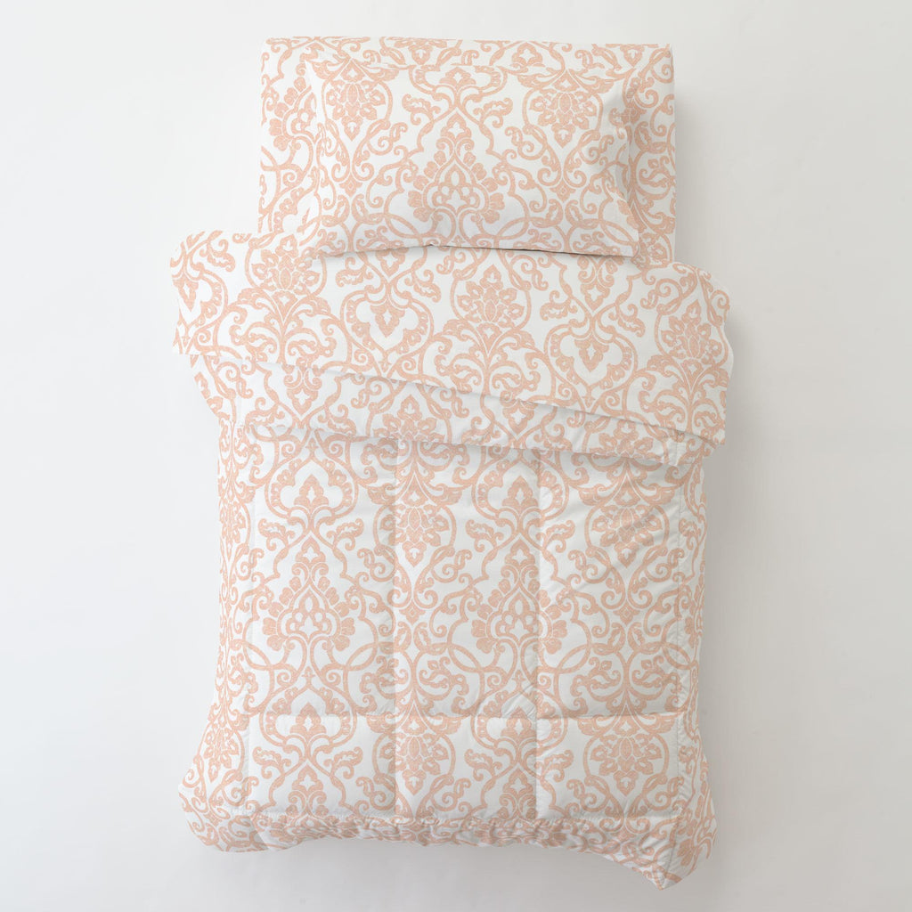 Product image for Peach Filigree Toddler Pillow Case with Pillow Insert