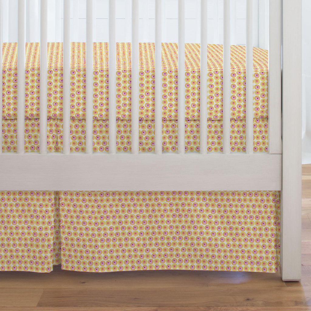 Product image for Festive Dots Crib Skirt Single-Pleat