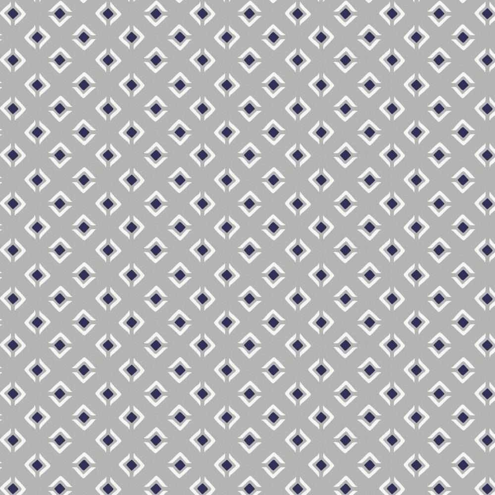 Product image for Silver Gray and Navy Diamond Drape Panel
