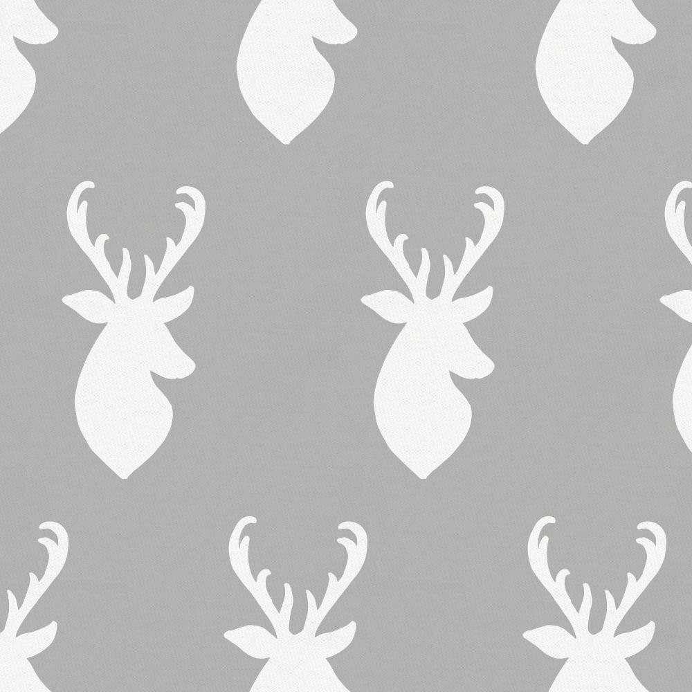 Product image for Silver Gray and White Deer Head Accent Pillow