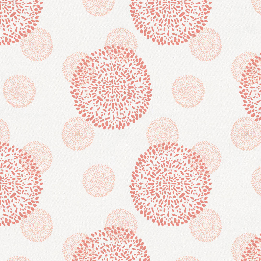 Product image for Light Coral and Peach Dandelion Baby Play Mat