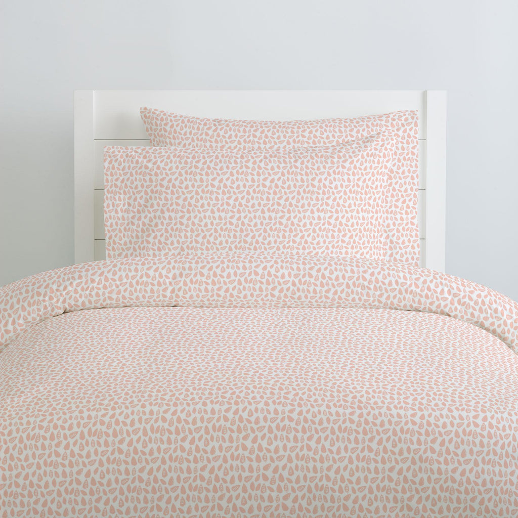 Product image for Peach Woodland Leaf Pillow Case