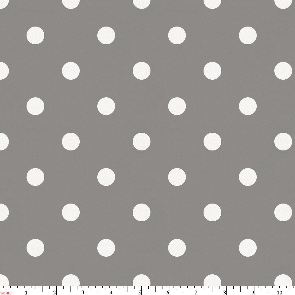Product image for Gray and White Polka Dot Fabric