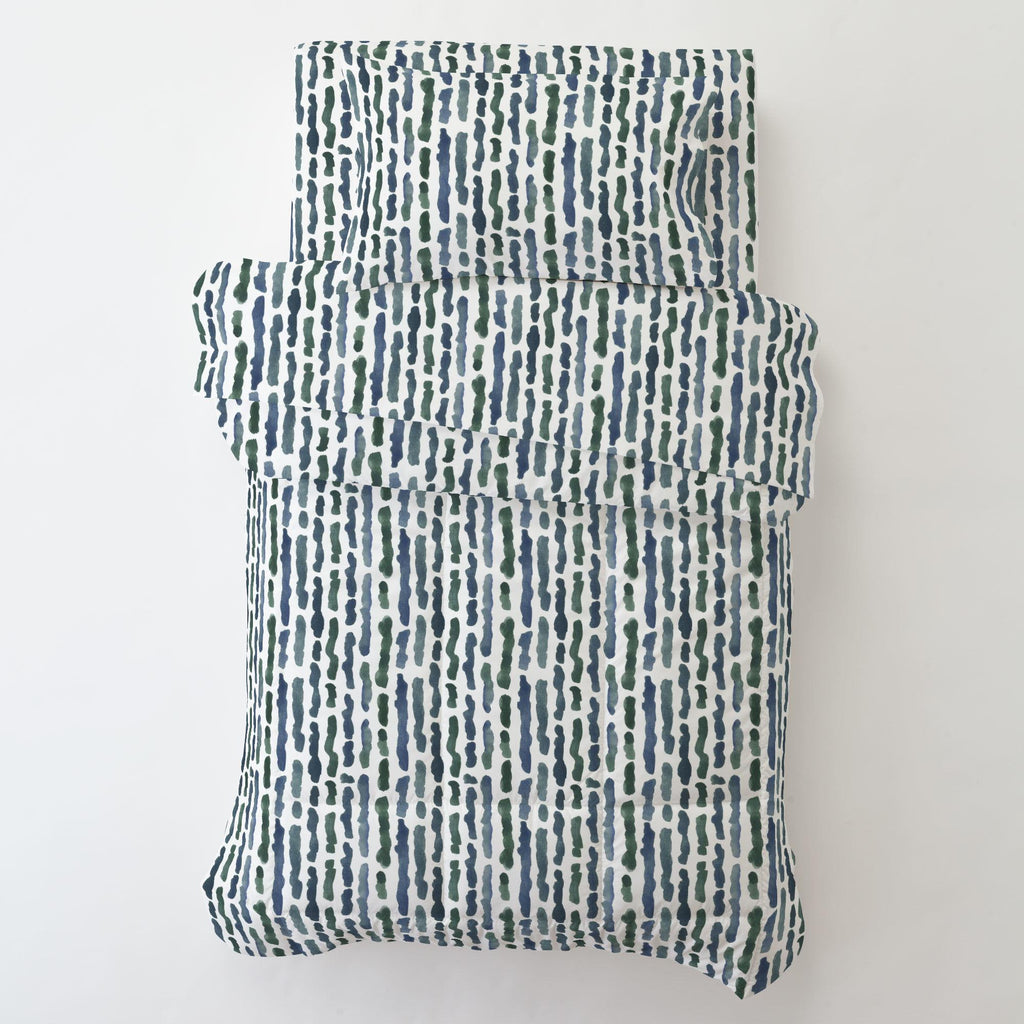 Product image for Sea Green Stripe Toddler Comforter