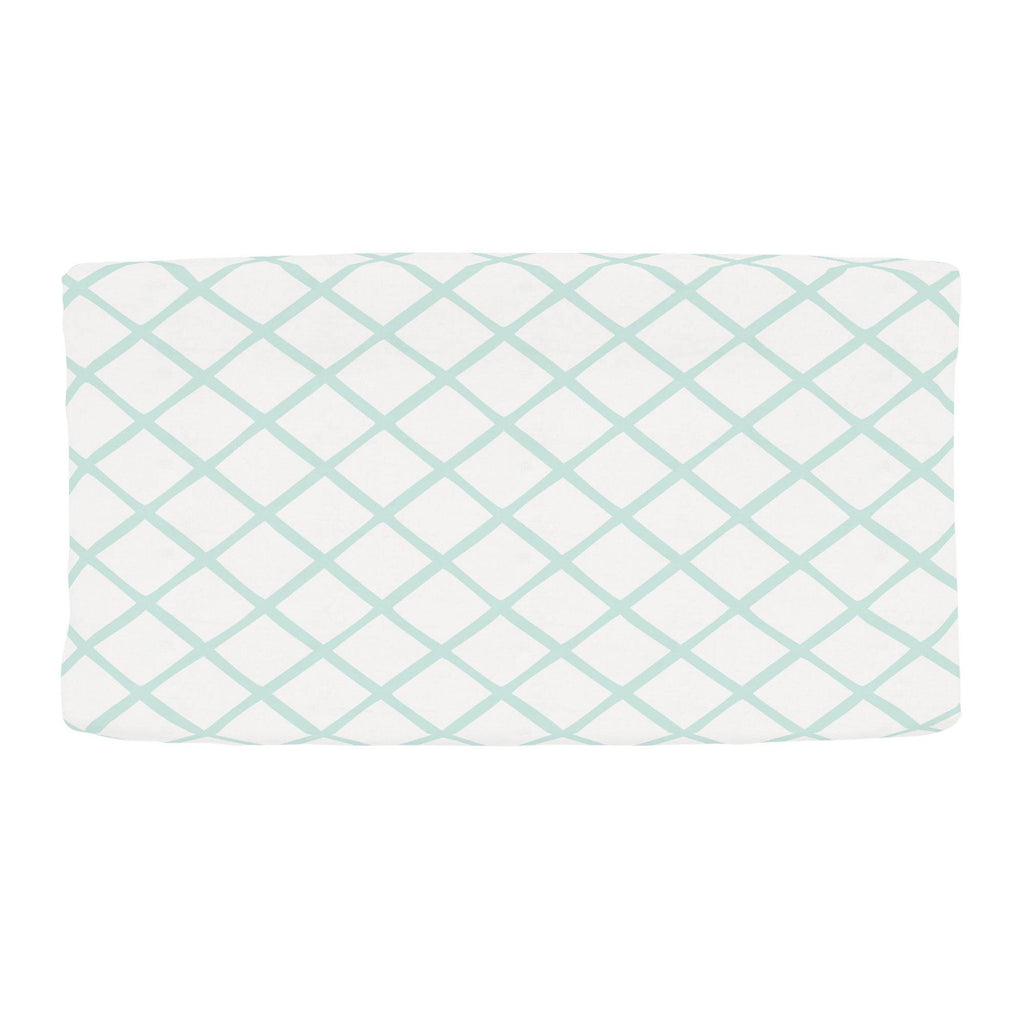 Product image for Icy Mint Trellis Changing Pad Cover