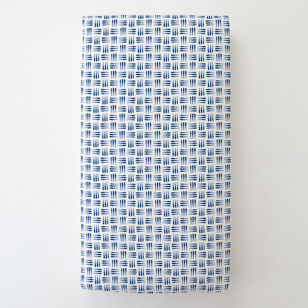Product image for Blue Basket Toddler Sheet Bottom Fitted
