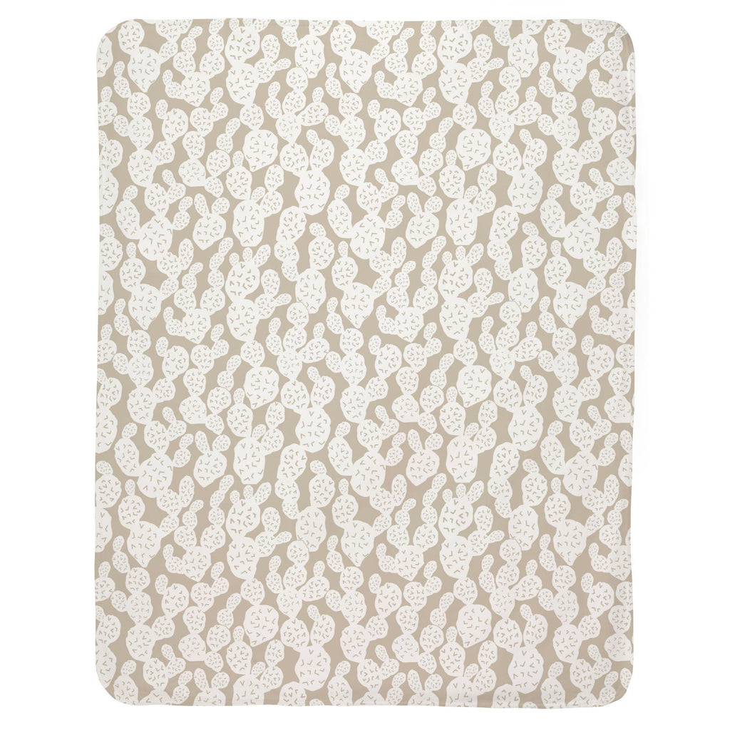 Product image for Taupe Prickly Pear Baby Blanket