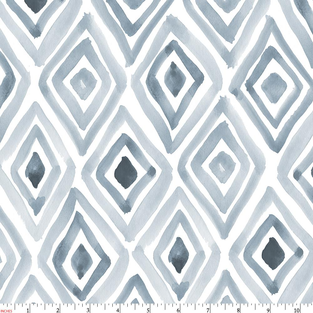Product image for Steel Blue Painted Diamond Fabric