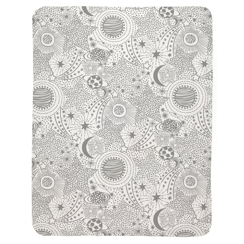 Product image for Cloud Gray Galaxy Baby Blanket