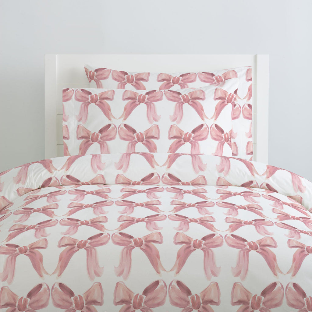 Product image for Pink Watercolor Bows Pillow Case