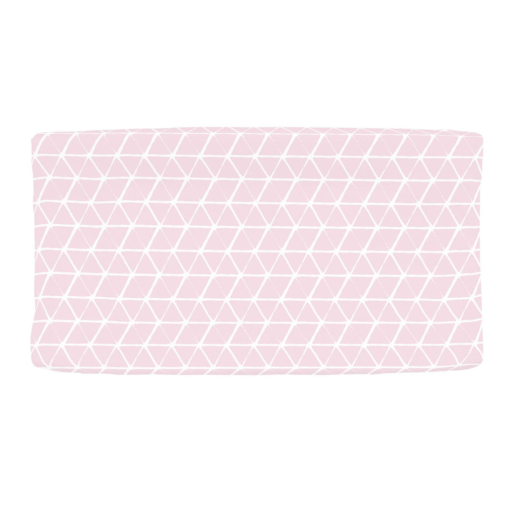 Product image for Pink Aztec Triangles Changing Pad Cover