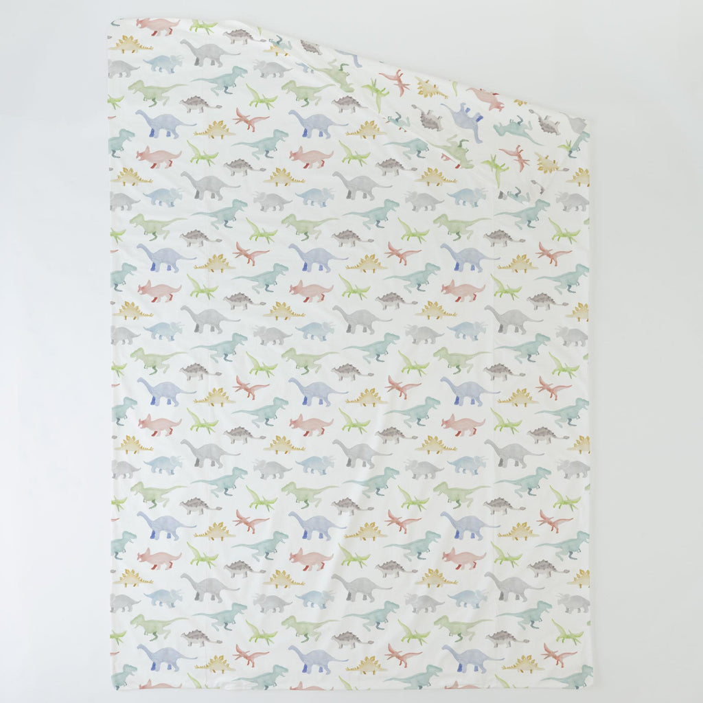 Product image for Watercolor Dinosaurs Duvet Cover