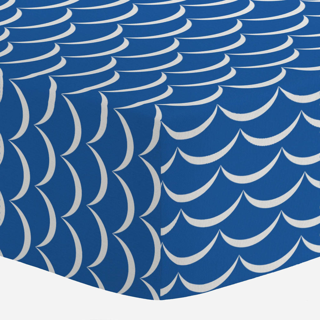 Product image for Ocean Blue Waves Mini Crib Sheet