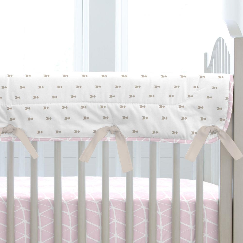 Product image for Pink Boho Crib Rail Cover