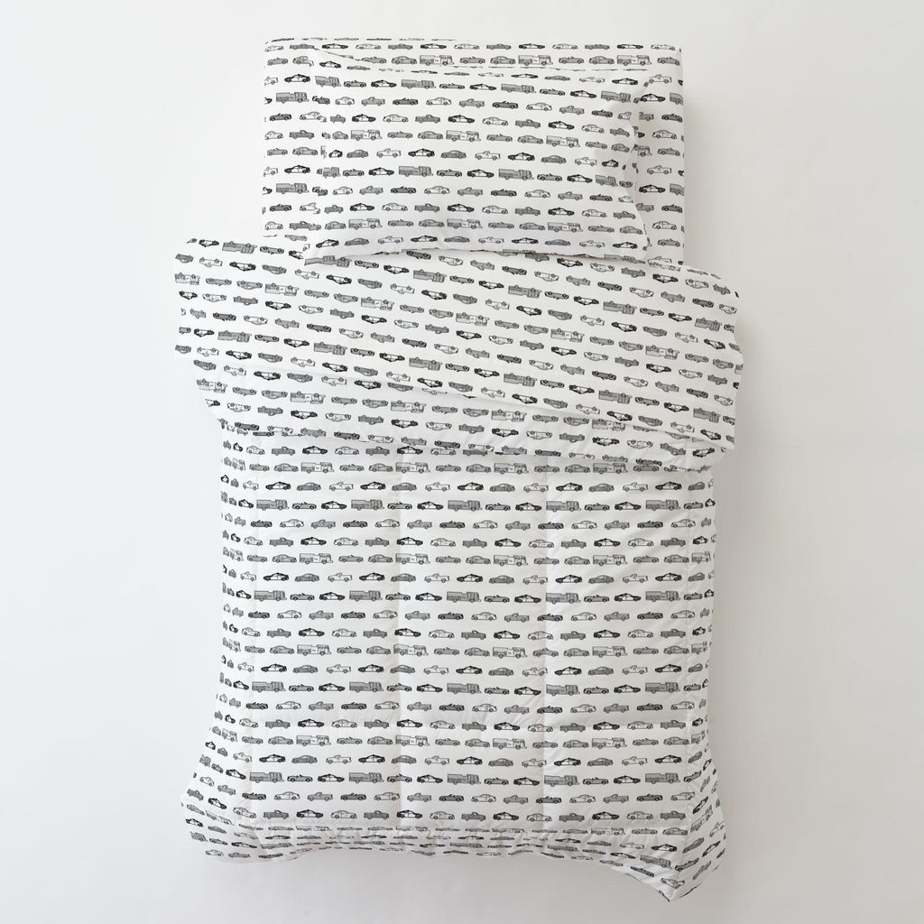 Product image for Gray Modern Cars Toddler Pillow Case with Pillow Insert