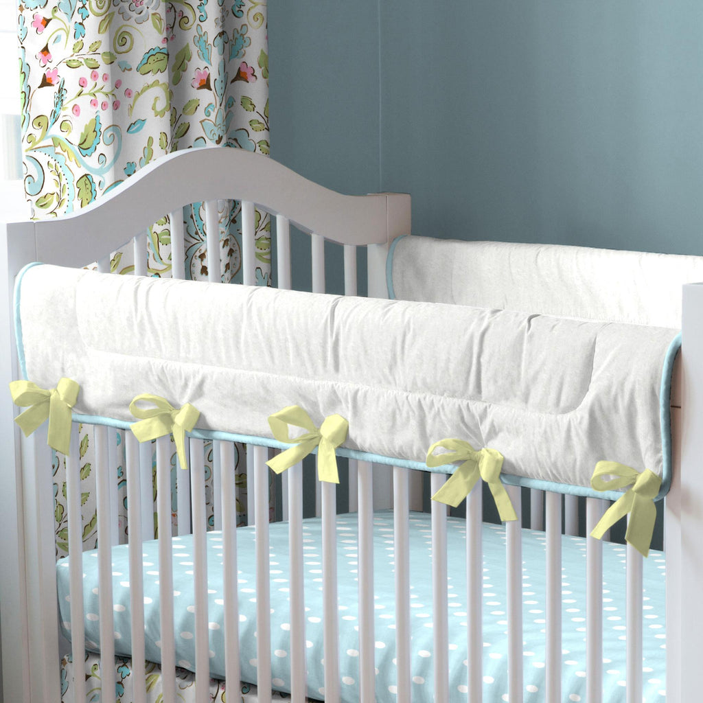 Product image for Love Bird Damask Crib Rail Cover