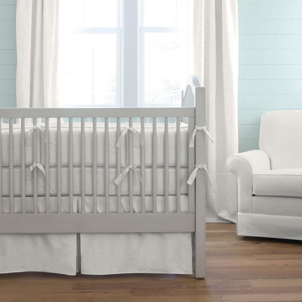 Product image for Ivory Linen Crib Bumper