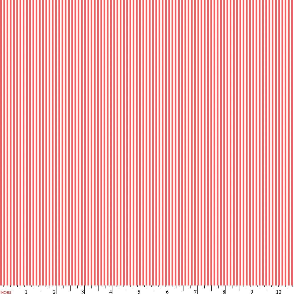 Product image for Coral Mini Stripe Fabric