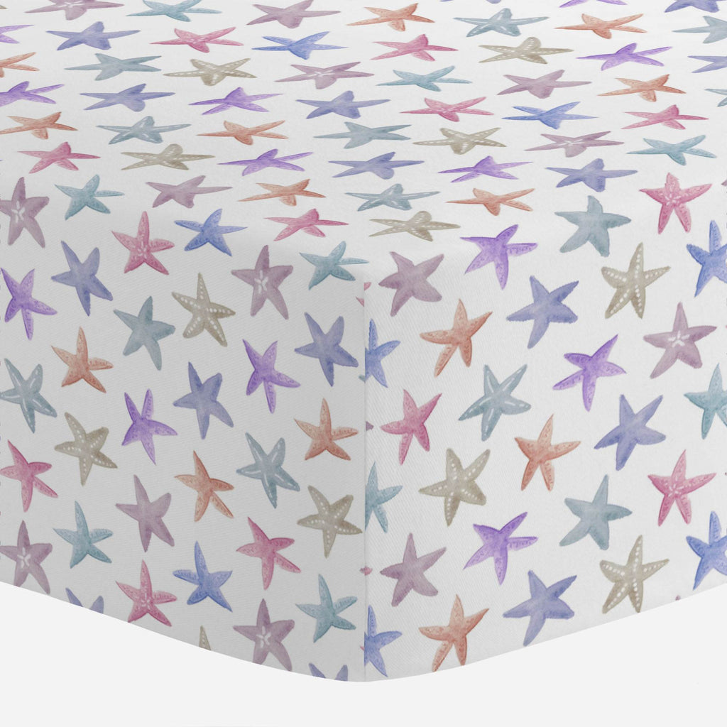 Product image for Watercolor Starfish Mini Crib Sheet