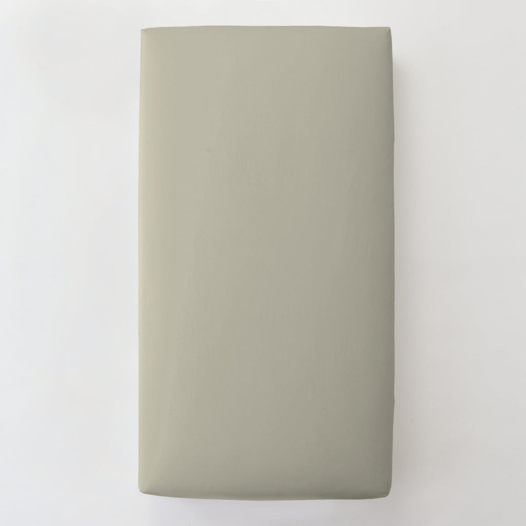 Product image for Solid Taupe Toddler Sheet Bottom Fitted