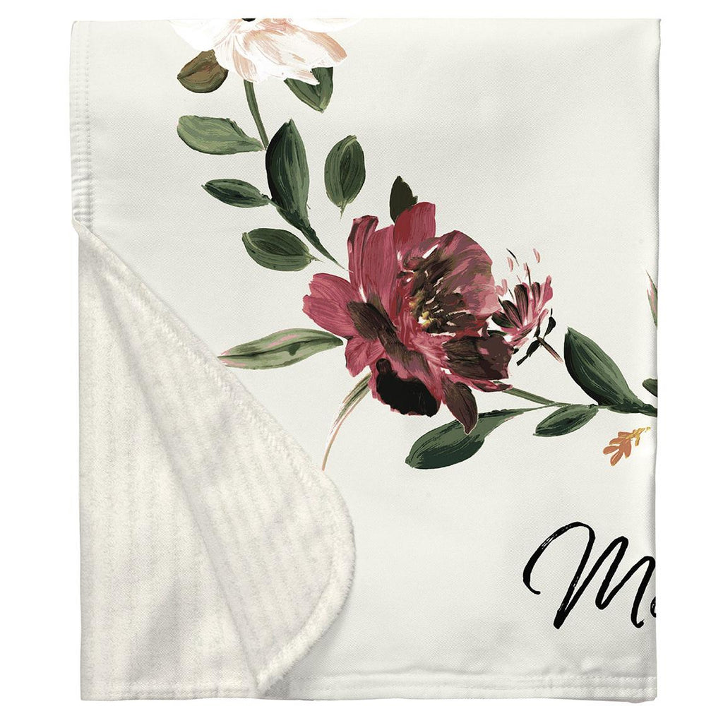 Product image for Moody Floral Milestone Baby Blanket
