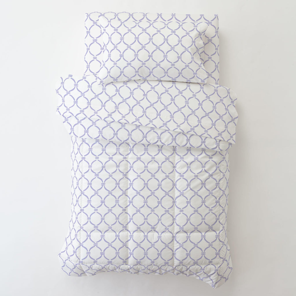 Product image for Lilac Lattice Circles Toddler Pillow Case with Pillow Insert