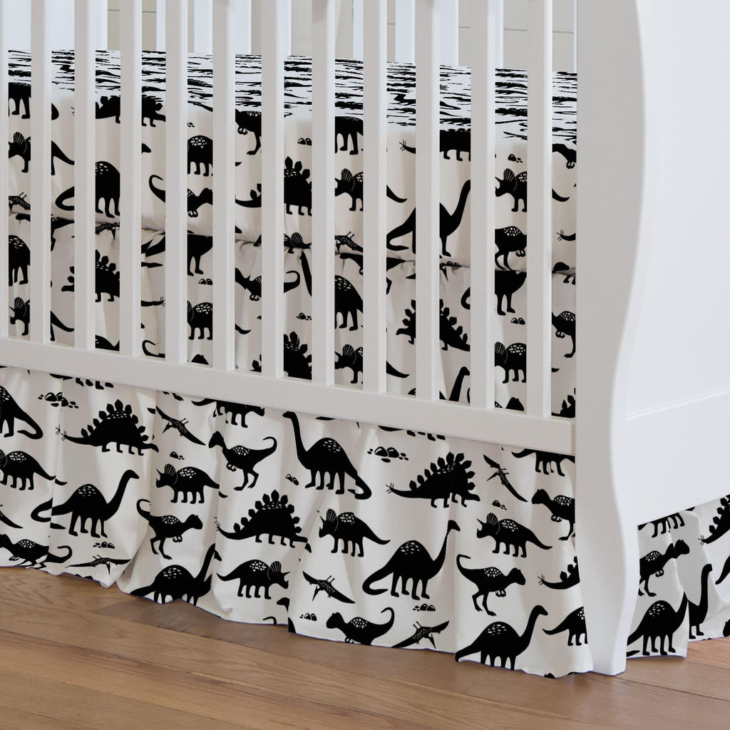 Product image for Onyx Dinosaurs Crib Skirt Gathered