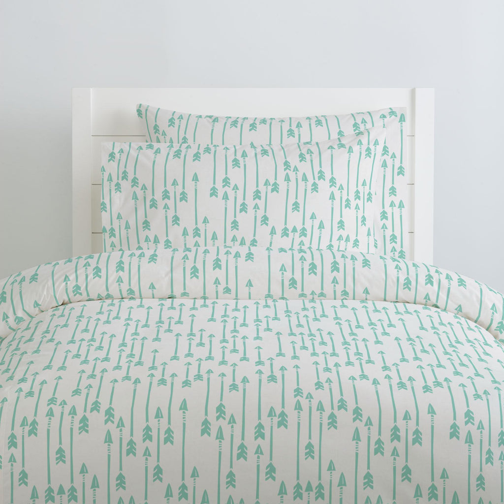 Product image for Mint Flying Arrow Pillow Case