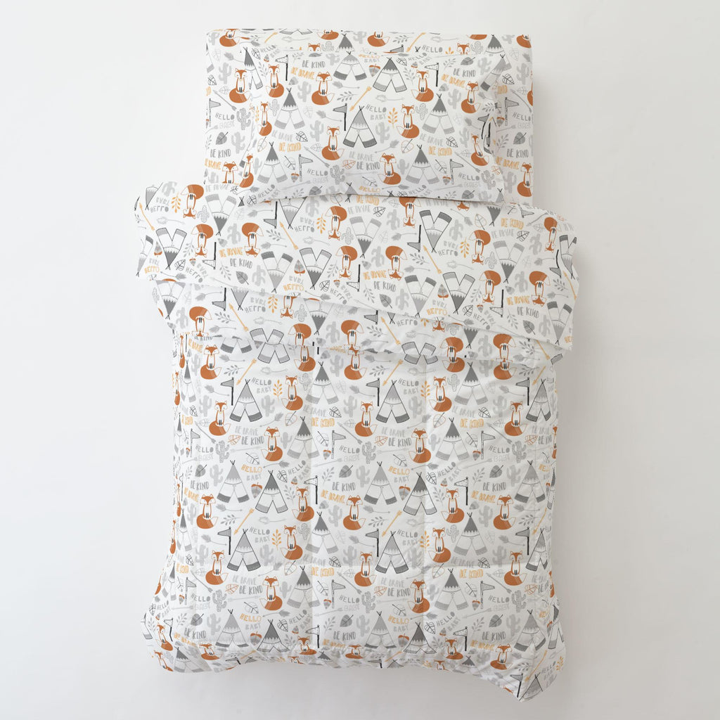 Product image for Brave Fox Toddler Pillow Case with Pillow Insert