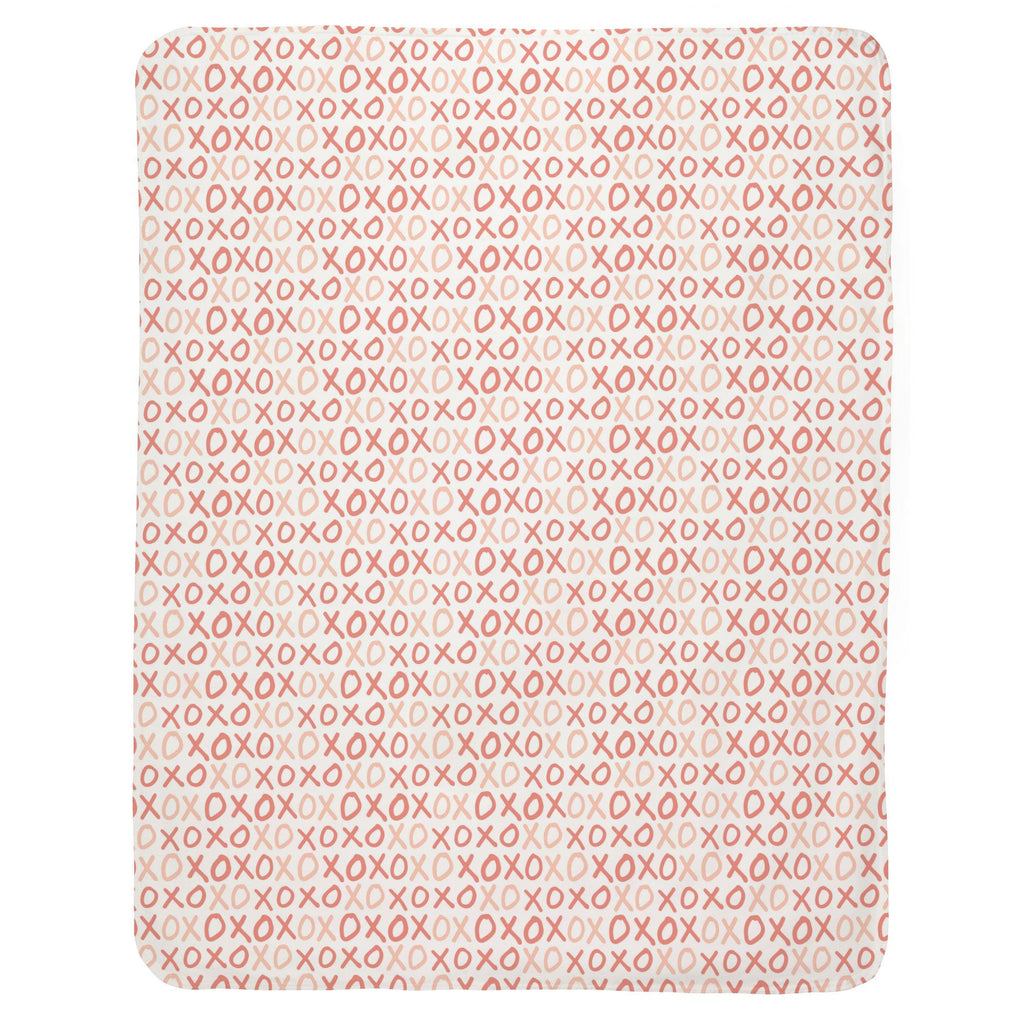 Product image for Light Coral and Peach XO Baby Blanket