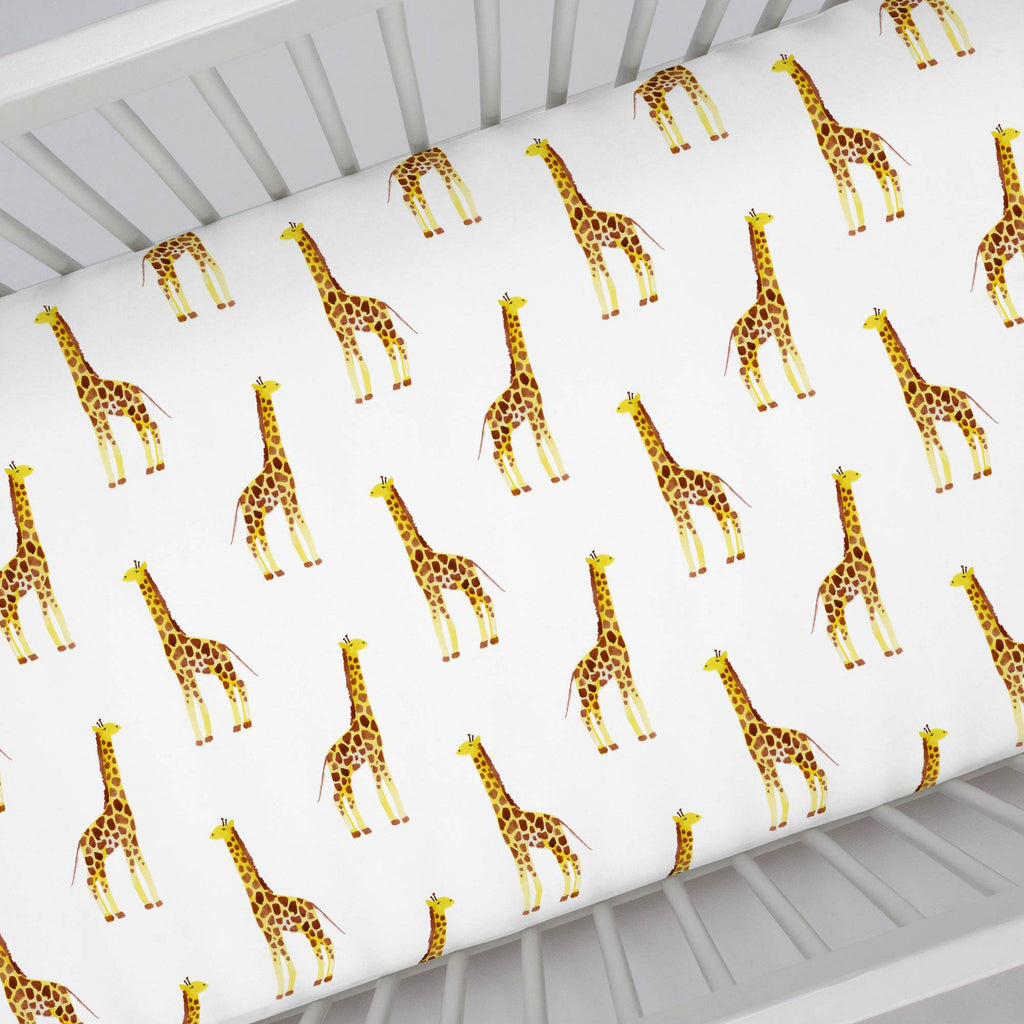 Product image for Painted Giraffe Crib Sheet